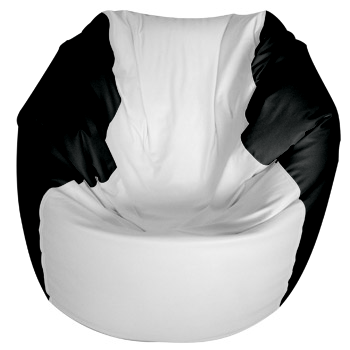 Super Traditional Round Style Marine Bean Bag Medium Black Gmtry Best Dining Table And Chair Ideas Images Gmtryco