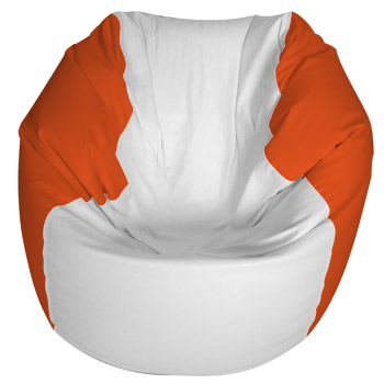 Excellent Traditional Round Style Marine Bean Bag Small Orange Alphanode Cool Chair Designs And Ideas Alphanodeonline